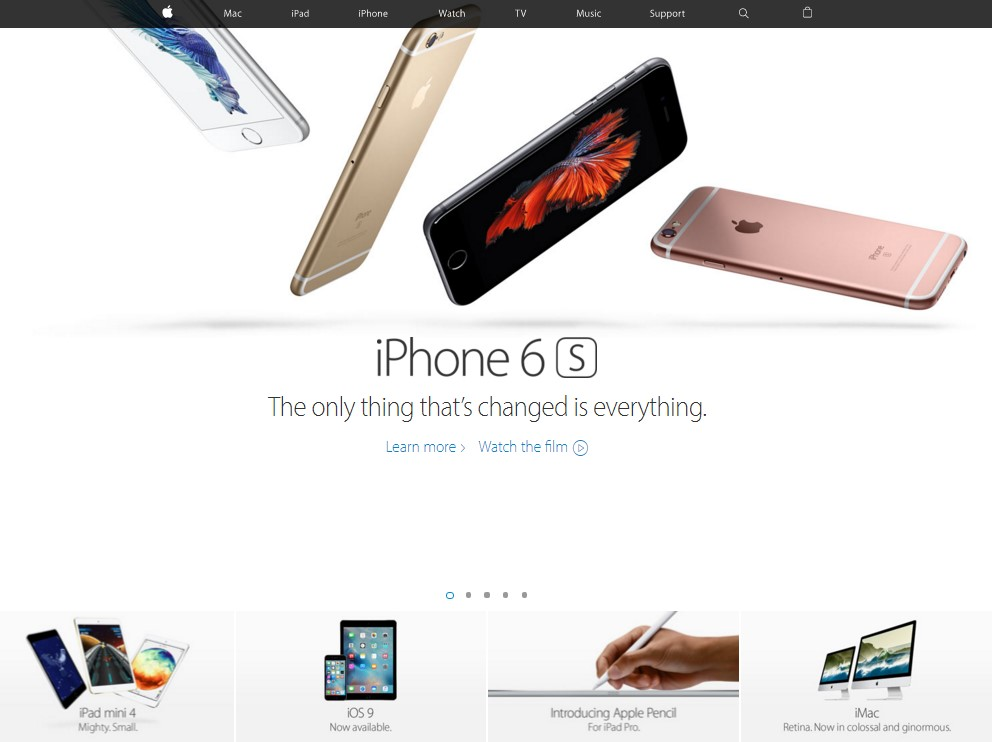 Apple Home Page